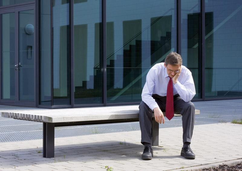 Depressiv erkrankter Geschäftsmann