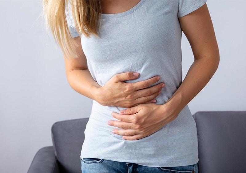 Patientin mit Bauschschmerzen