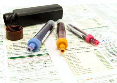 Blutabnahme und Laborbogen